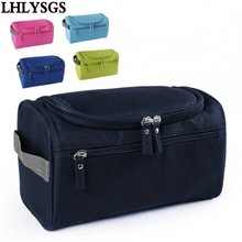 LHLYSGS Brand Portable Women Beauty Organizer Case Necessaries Wash Toiletry Cosmetic Bag Men Travel Large Waterproof Makeup Bag