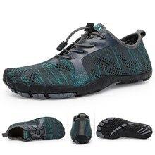 Aqua chaussures hommes pieds nus hommes chaussures de plage pour femmes chaussures en amont respirant randonnée chaussure de Sport séchage rapide rivière eau de mer baskets