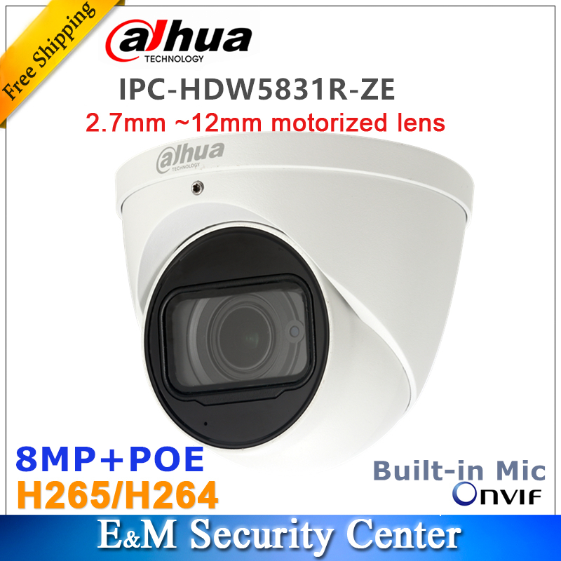 Original dahua English version IPC HDW5831R ZE 8MP POE IR