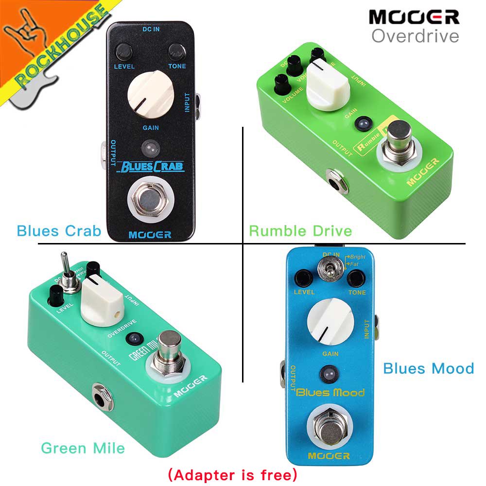 MOOER Overdrive Effect Guitar Pedals Round and smooth Overdrive tone Effect Pedal 2 Working Modes True bypass Free Shipping mooer mini classic optical electric compressor effect pedal yellow comp true bypass with smooth attack and decay sound