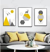Poster Nordic Feather Arrow Cartoon Wall Art Canvas Nursery Prints Abstract Painting Picture Girls Boys Room Decor No Framed