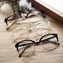 Хит, очки против радиации, простые стеклянные очки, винтажные Модные женские очки, металл+ пластик, полукруглая оправа, оптическое стекло es, Новинка