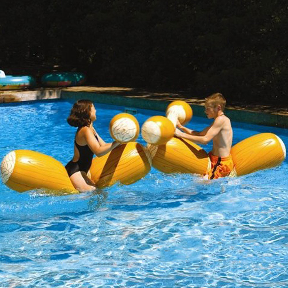 Swimming Pool Float Game Inflatable Water Sports Bumper Toys For Adult Children Party Gladiator Raft Kickboard Piscina 1 6m giant crab ride on pool floats summer swimming party children fun water toy kickboard for 2 children
