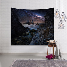 Galaxy Mountain river 3D wall hanging tapestry tapiz pared home decor printed tela psychedelic carpet