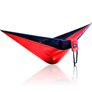 Image 5 - Single Double Hammock Adult Outdoor Backpacking Travel Survival Hunting Sleeping Bed Portable With 2 Straps 2 Hammock Carabiner