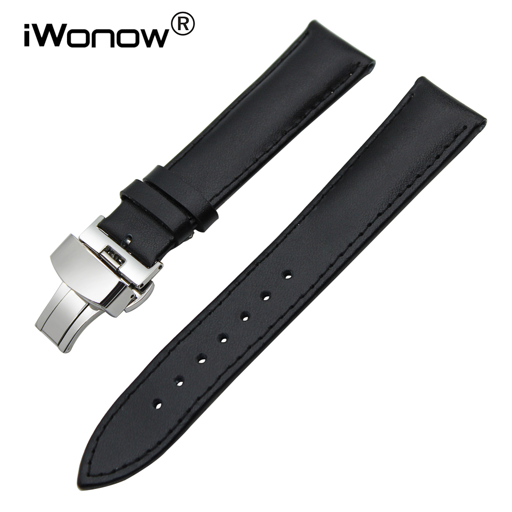 Genuine Leather Watchband 18mm 20mm for DW Daniel Wellington Watch Band Stainless Steel Buckle Strap Wrist Bracelet Black Brown
