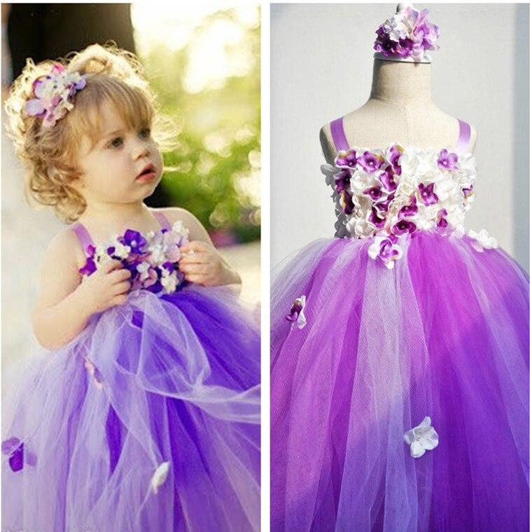 purple tutu dress lavender tutu dress with flowers little girls pageant dresses kid toddler communion dress for wedding party