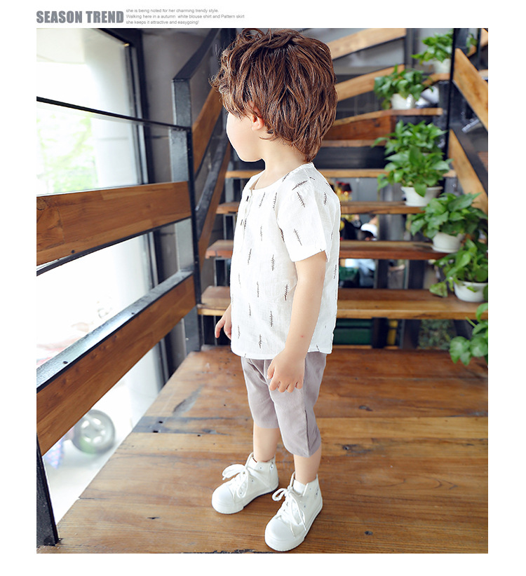 2019 New Kids Clothes Spring Boys Clothing Sets T Shirt + Shorts Toddler Boys Clothing Baby Boy Fluid Systems Clothes Brand 27
