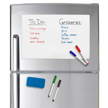 Small A5 Size Magnetic Whiteboard Fridge Magnets Dry Wipe White Board Marker Eraser Writing Record Message Remind Memo Pad