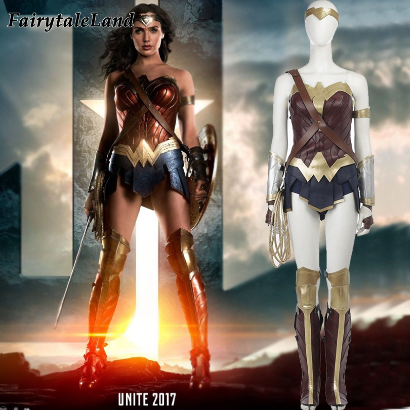 Wonder Woman Costume Halloween costumes for adult custom made Justice League Wonder Woman Cosplay Costume superhero