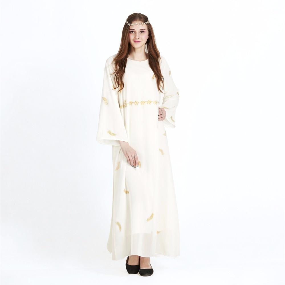Tradisional Arab Pakaian Abaya Sifon Gamis Wanita Panjang Besar Dubai Turki  Muslim Jilbab Islam Modis Panjang Gaun Bunga di Dresses dari Pakaian Wanita  ... 9017d27ca6