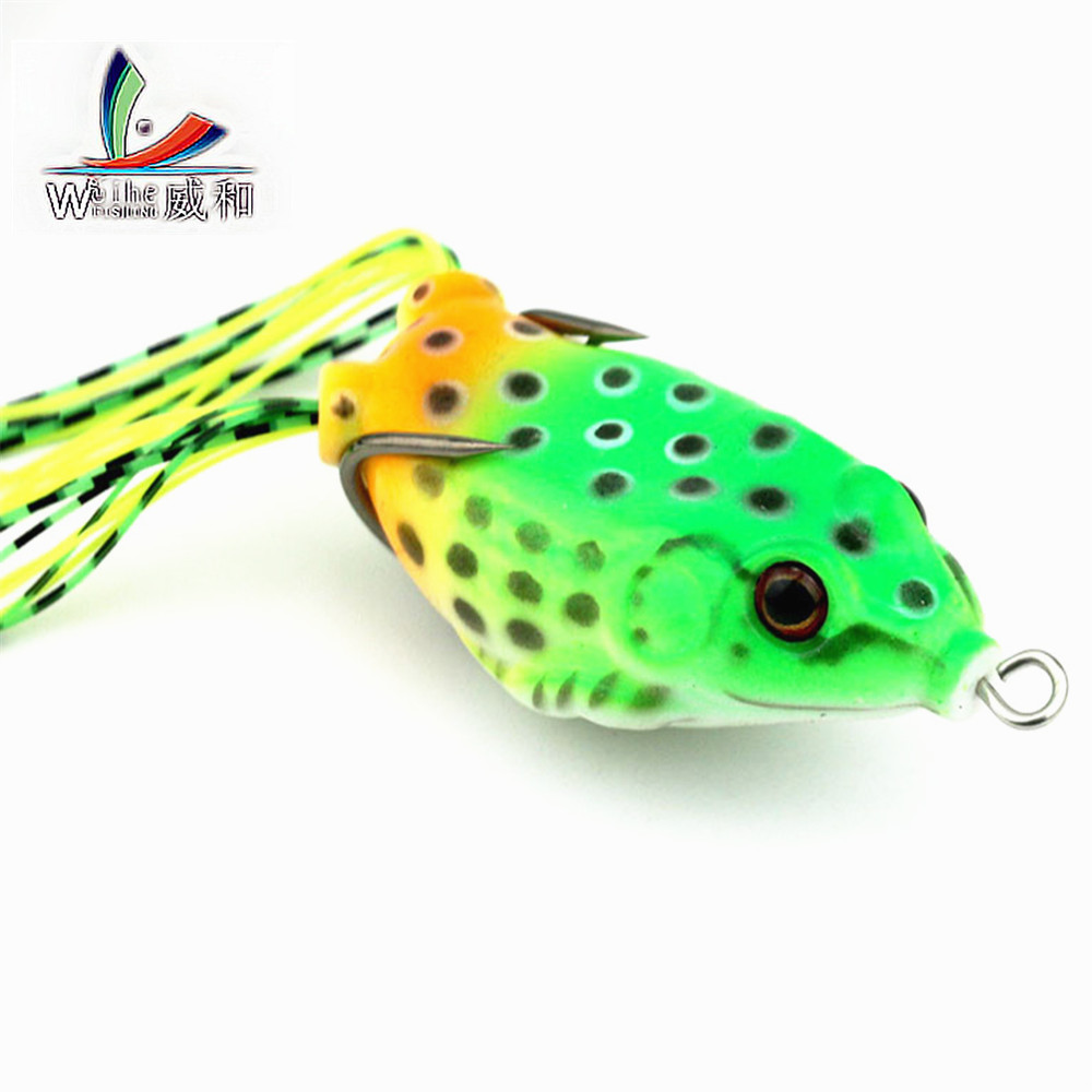 1Pcs Soft Plastic Bait Tube Fishing Lures Frog Topwater Toad Ray Lure Sharp Hooks 5.5cm/12.1g Artificial Soft Bait Fishing Tools