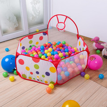 Baby Outdoor/Indoor Children's Playpens With Basketry Foldable Kids Pool Game Tent Portable Activity&Gear Toy Fencing 90 cm