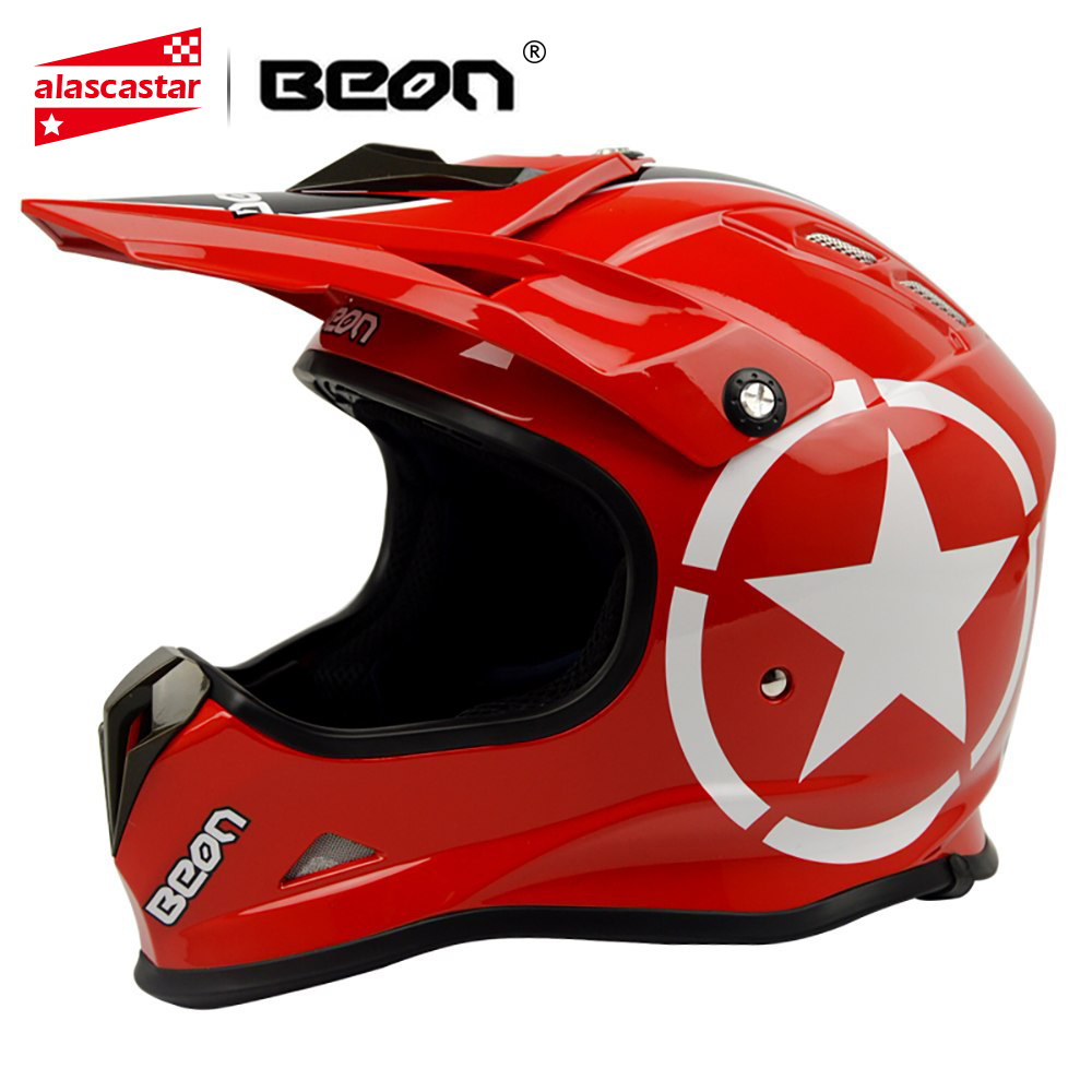 купить BEON Motorcycle Helmet Riding Biker Motocross Helmet Motorbike Off Road ATV Racing Dirt Bike Casco Moto Helmet онлайн