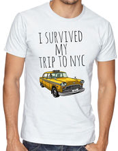 I Survived My Trip To NYC New York Yellow Taxi USA Men Women Unisex  New T Shirts   Unisex Funny Tops free shipping цены