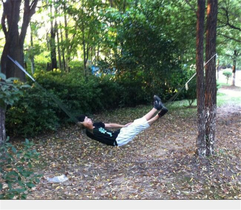 Portable hammock Mesh hammock camping survival garden hunting recreation Parachute hammock Bedroom swing Lazy chair