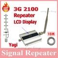 1 Conjunto LCD Família UMTS WCDMA 3G 2100 MHz 2100 MHz Móvel Sinal de telefone Impulsionador Repetidor Amplificador 60db Celular com Yagi antena