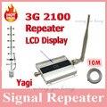 1 Unidades LCD Familia UMTS WCDMA 3G 2100 MHz 2100 MHz Móvil Teléfono Celular amplificador de Señal del Repetidor Del Amplificador 60db con Yagi antena