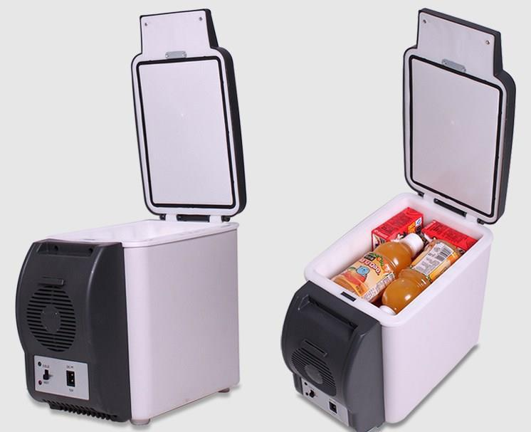 Adoolla 6V Portable Car-mounted Fridge With Refrigeration & Heating Function Outdoor Mini Refrigerator