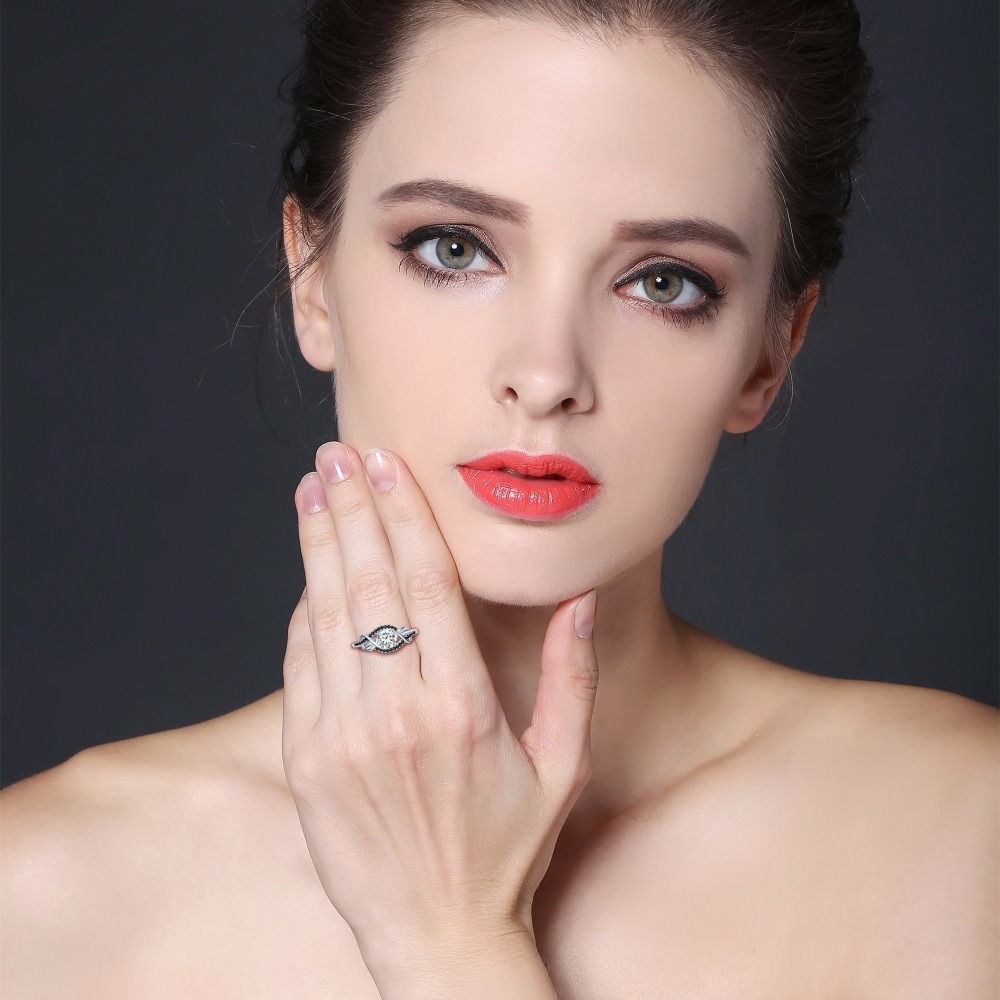 Trendy 3.5 Gram 100% Asli 925 Sterling Perhiasan Perak Hitam & Putih - Perhiasan bagus - Foto 5
