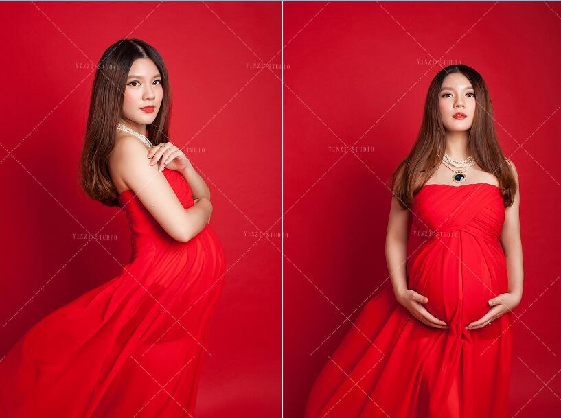 Hot Maternity Mama Gown Eyelashes Lace Transperant Maternity Dresses ...