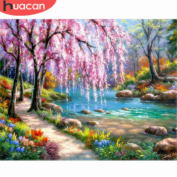 HUACAN Diamond Painting Landscape Diy Full Embroidery Scenery Mosaic Picture of Rhinestone Home Decor - discount item  52% OFF Arts,Crafts & Sewing