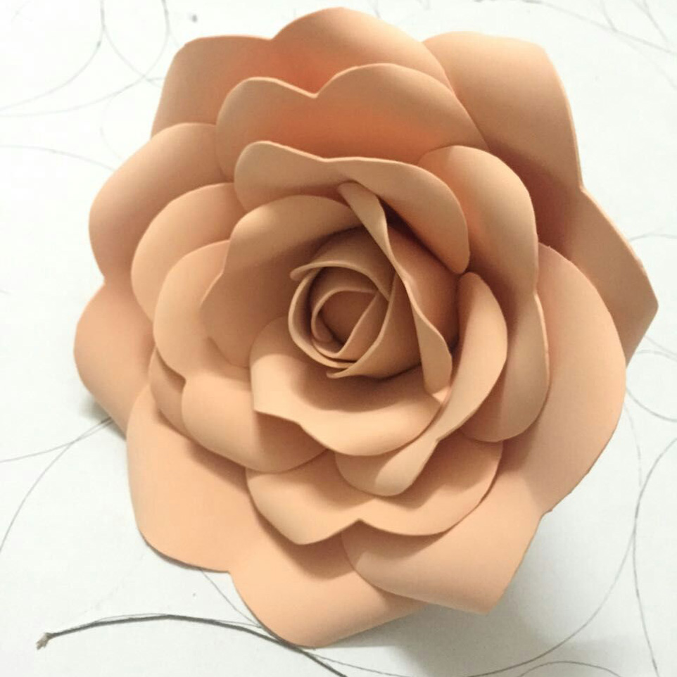10cm 3d foam flower wedding decoration large artificial flowers pink 10cm 3d foam flower wedding decoration large artificial flowers pink white red handmade romantic party paper flower foam roses in artificial dried flowers mightylinksfo Images