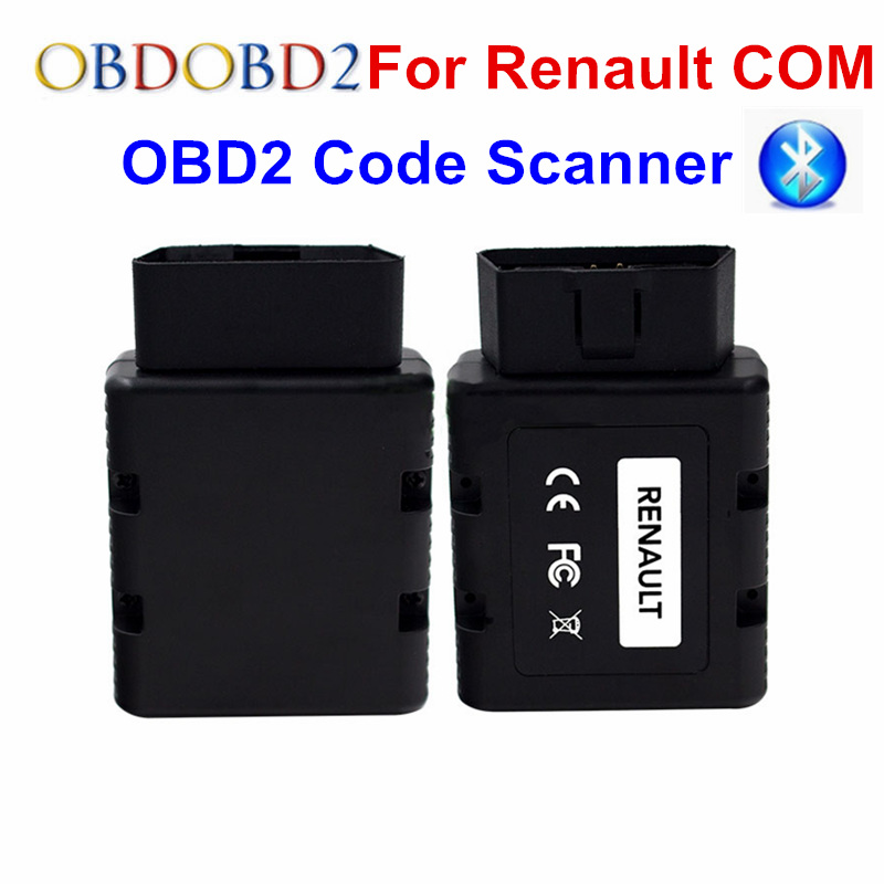 For Renault-COM Bluetooth Car Diagnostic Tool For Renault COM Diagnostic & Key Program Code Reader For Renault Can Clip op com car vehicle diagnostic tool black