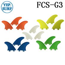 Surfing FCS Fins G3 Size Honeycomb Fibreglass Fin 5 color Surf Quilhas