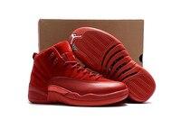 JORDAN Basketbal Schoenen red raging bullss Ademend Hoogte Toenemende Suede Sneakers Voor Mannen en vrouwen Schoenen Jordan 12