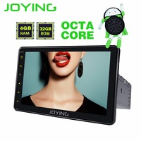JOYING Android 8.1 1din 4GB RAM Octa core autoradio GPS Android car stereo 8'' HD Touch Screen tape recorder DSP support Carplay