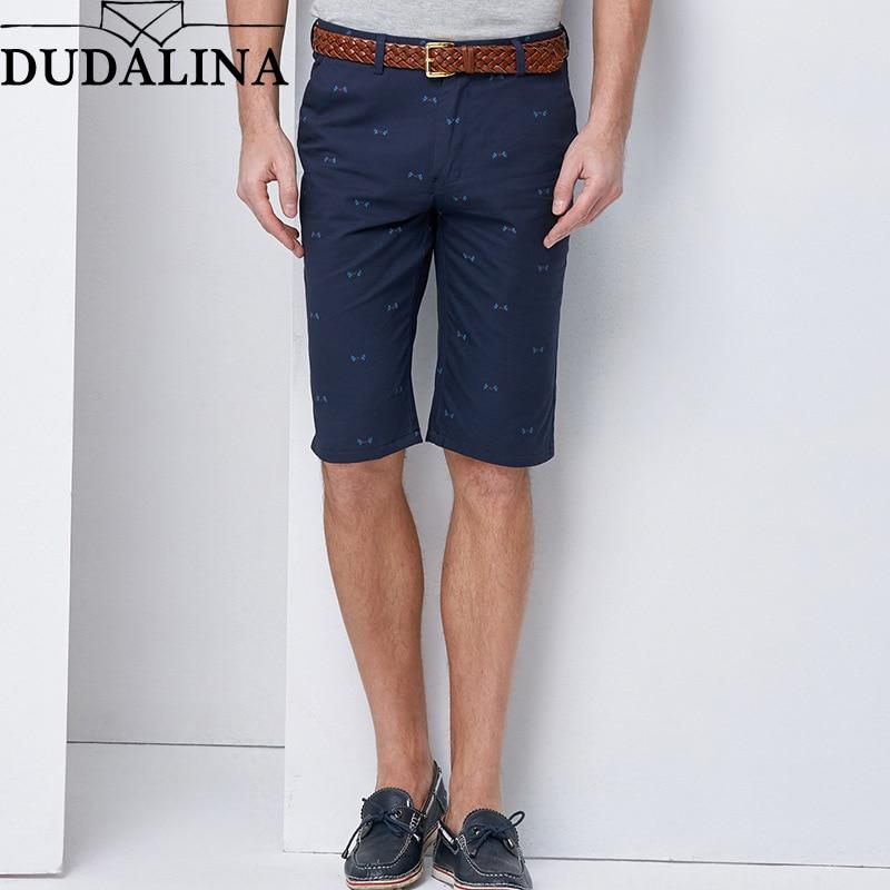 Dudalina Summer Casual Plus Size Board Shorts Men Beachwear Short Male Fashion Cotton Printed Short Pants Mens Fitness