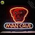 Неоновая вывеска для собаки  человека  пещеры  неоновая лампочка  неоновая вывеска  расписная доска  стеклянная трубка  ручная работа  знако...
