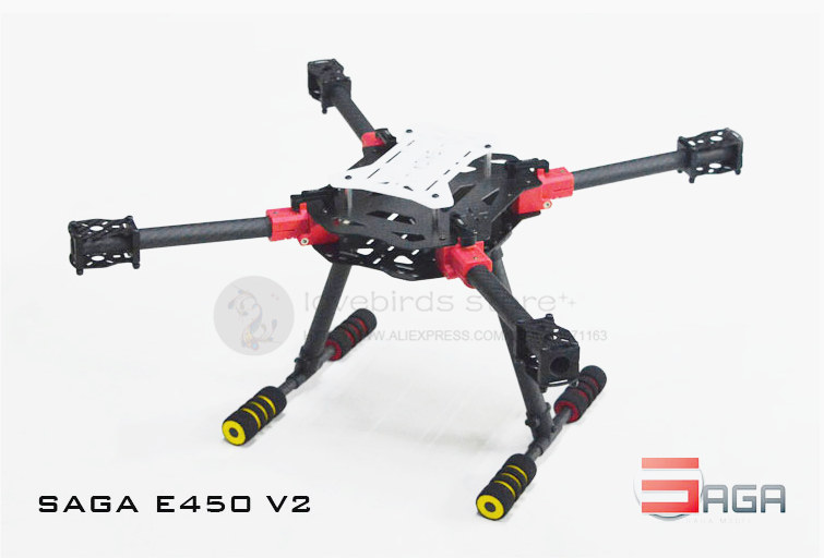DIY FPV drones SAGA E450-V2 umbrella folding 3K pure carbon frame with landing gear E450-T upgrade support X4 / X8 model large double layers folding umbrella windproof rain gear