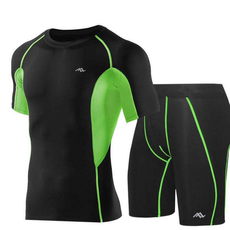 Quick Dry Compression Suits Short Sleeve Shirt shorts Men s Running Set Fitness Tight Sport Suit