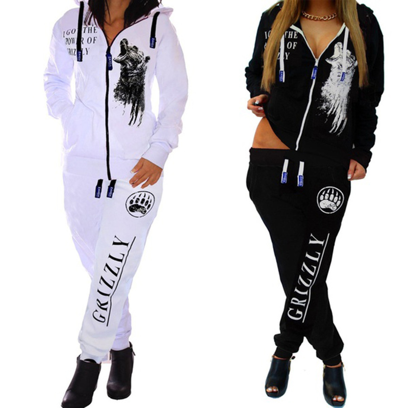 ZOGAA Womens Tracksuit Casual Women Matching Sets Clothes Black White Sweat Suit Women Joggers 2 Piece Outfits For Women Suit
