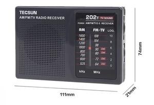 Image 4 - Top Quality TECSUN R 202T radio Pocket AM FM TV Audio Radio black Portable Free Shipping