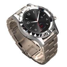 Runden Bildschirm Edelstahl Smartwatch Herzfrequenz Schrittzähler Musik-player 2,0 MP Kamera Wasserdichte Bluetooth Sport Smart Uhr