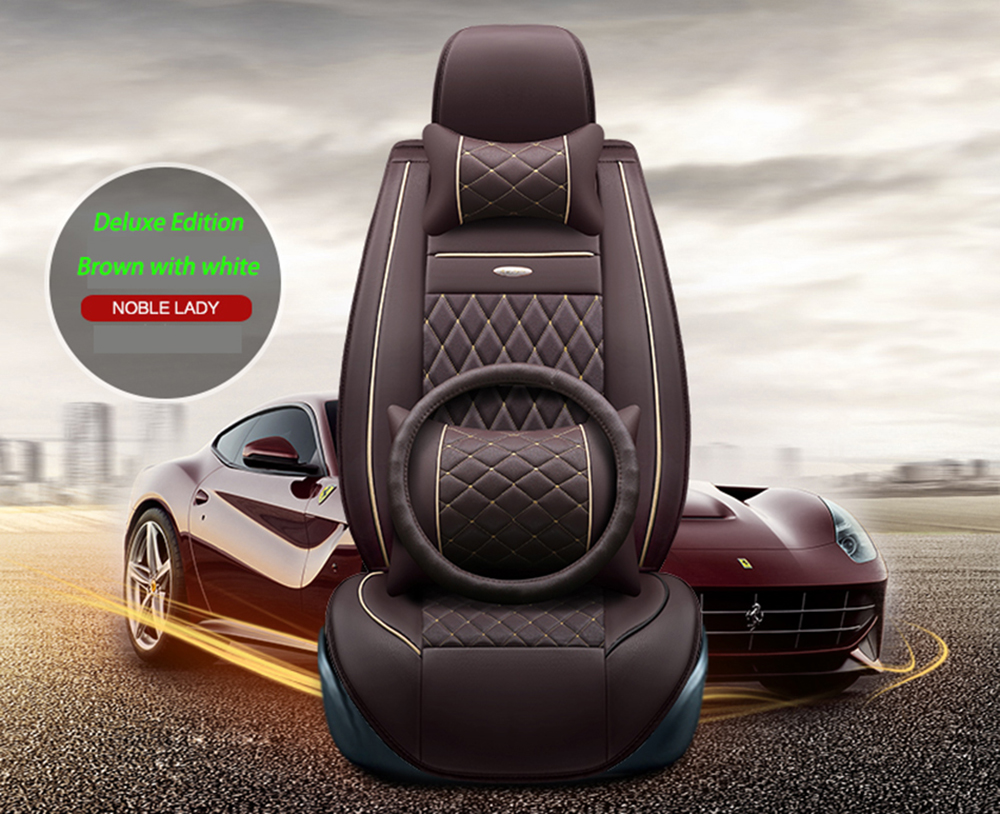 Universal Leather car seat covers For Fiat Palio Linea Punto Bravo 500 Panda SUV Siena Perla car accessories styling