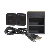 Battery & Dual slot charger with USB cable 2 batteries kit for Gopro hero3+/3