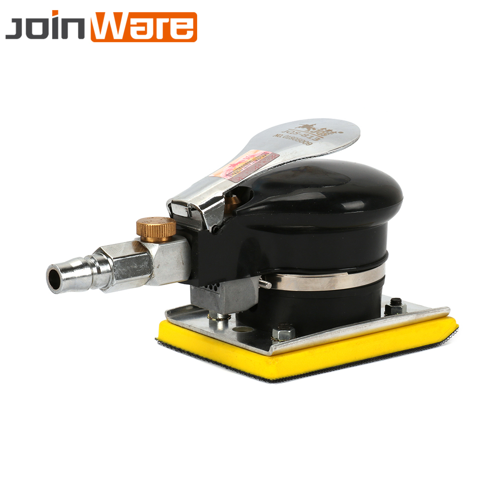 цена на 1/4 Air Inlet Rectangle Square Black Yellow Air Sander Grinder Polisher Machine Pneumatic Tools 3X4 Inch Chassis Size 10000 RPM