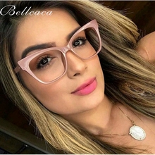Bellcaca Optical Square Eyeglasses Women Fashion Prescription Spectacles Decorative Eyeglass Frames Clear Lens Glasses BC830