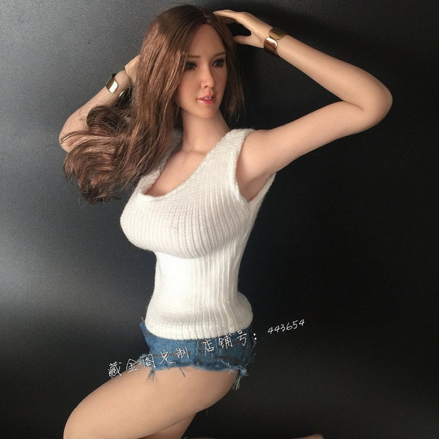 1 6 Female Sexy Girl Knitting Shirt Hot Jeans Pants Fit 12 Tbl
