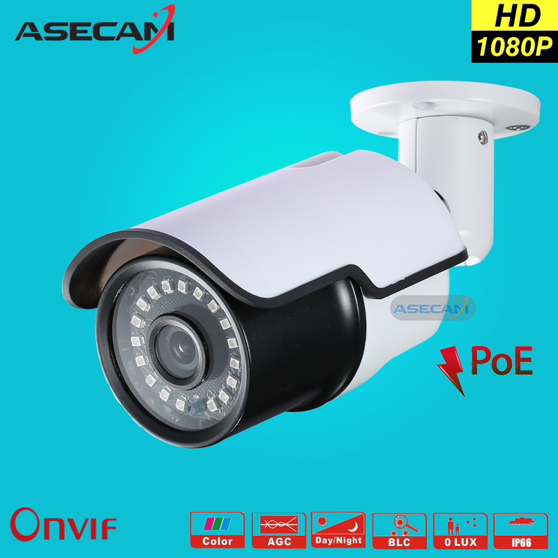 HD 1080P IP Camera POE Hi3516C New Infrared Metal Bullet Outdoor Waterproof Security Network Onvif H.264 Surveillance ie P2P wistino cctv camera metal housing outdoor use waterproof bullet casing for ip camera hot sale white color cover case