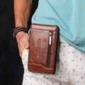 Venda quente Homens Saco Da Cintura de Couro Genuíno Caso Do Telefone Móvel Sacos masculino Hip Bum Bolsa Gancho Bolsa Pochete Cinto Loops de Alta qualidade