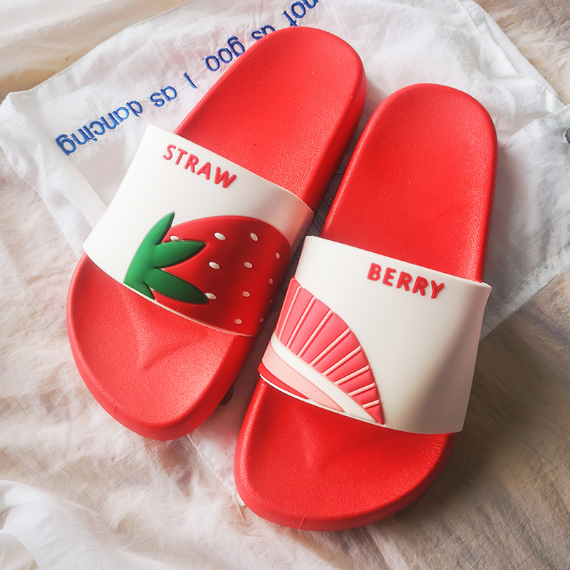 Women Summer Slippers Cute Fruits Watermelon Strawberry Soft Sole Beach Slides Indoor & Outdoor Slippers Sandals Women Shoes 5