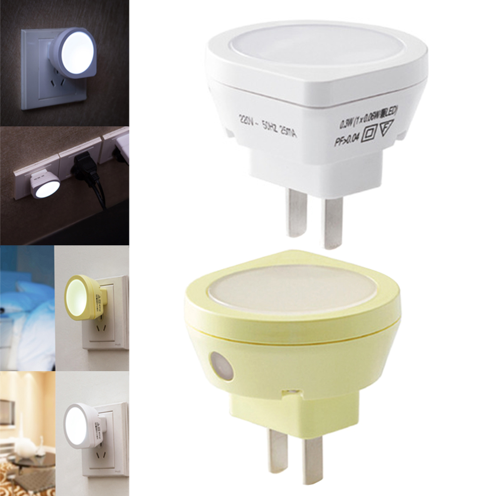 Newest Mini LED Night Light Auto Sensor Baby Bedroom Smart Lamp Lighting Control Emergency Lights US Plug @8 JD9