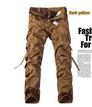 Мужчины Комбинезоны Большой Груз Тяжелый Multi-карман Военная Тип Брюки Потерять Большие Ярдов Весной И Летом мужские Случайные брюки