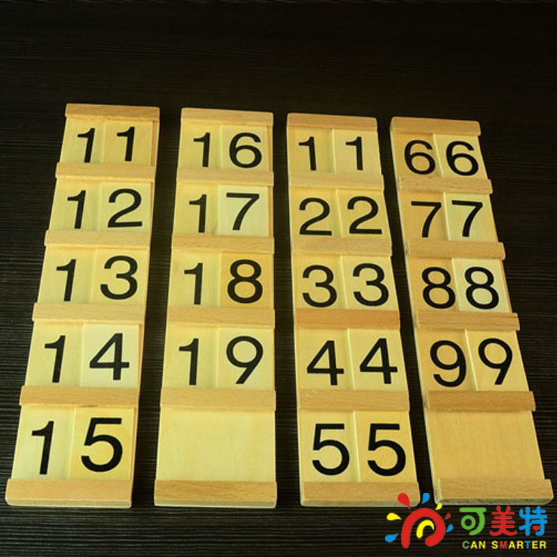 Montessori Materials 1-100 Numbers Tenth  Beech Wood  Math  toys Early educational toys Free Shipping montessori education 0 10 numbers odevity pedestal beech wood math toys early educational toys free shipping
