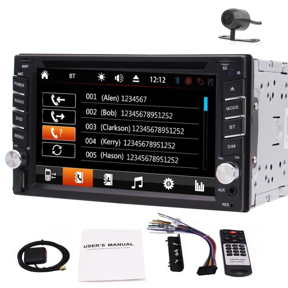 Free Camera Eincar 6 2 In Dash Double 2DIN Capacitive Digital Touch Screen font b Car